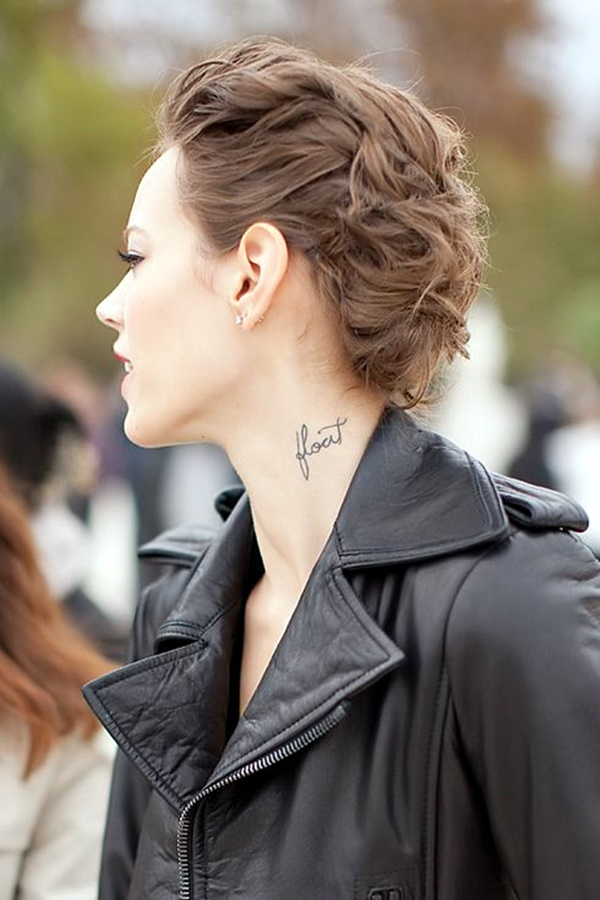 Tattoo Designs For Girls On Neck Front