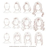 draw hair step