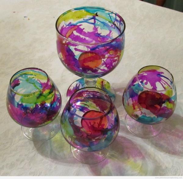 40 Original Alcohol Ink On Glass Examples - photofun4ucom