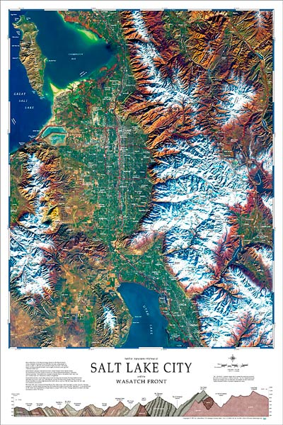 Salt Lake City Amp The Wasatch Front Map