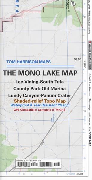 Mono Lake Map by Tom Harrison