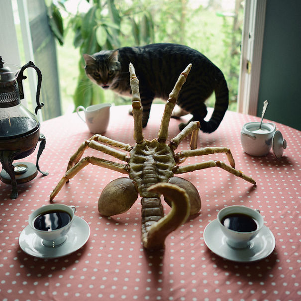 Alien-facehugger Cake