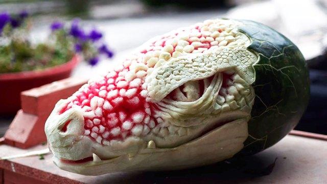 dragon-tallado-sandia-valeriano-fatica (4)