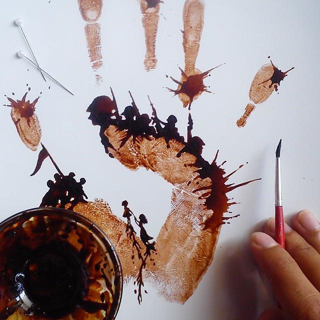 pintura-hojas-secas-posos-cafe-ghidaq-al-nizar-zerowastecoffee (15)