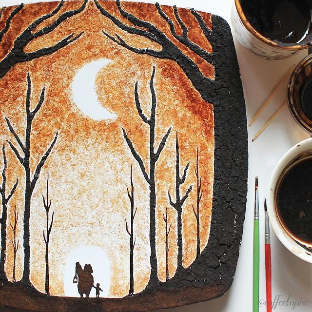 pintura-hojas-secas-posos-cafe-ghidaq-al-nizar-zerowastecoffee (4)