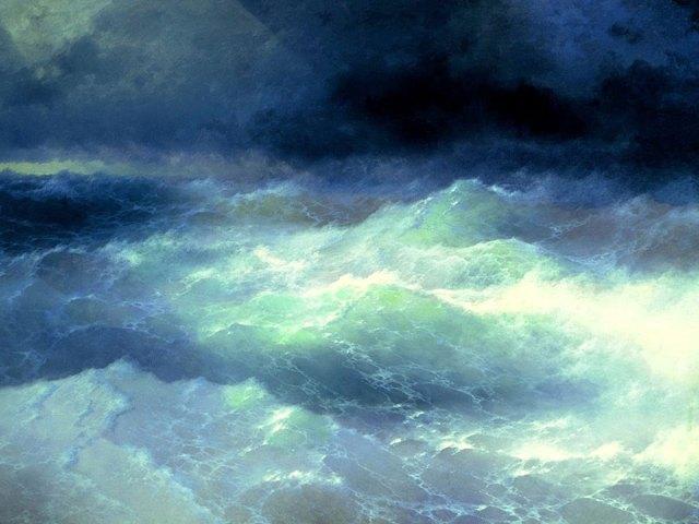 pintura-olas-mar-barcos-ivan-konstantinovich aivazovsky (4)
