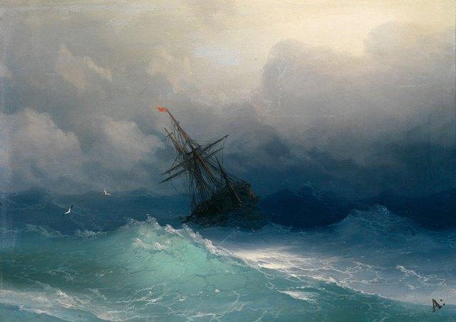 pintura-olas-mar-barcos-ivan-konstantinovich aivazovsky (8)
