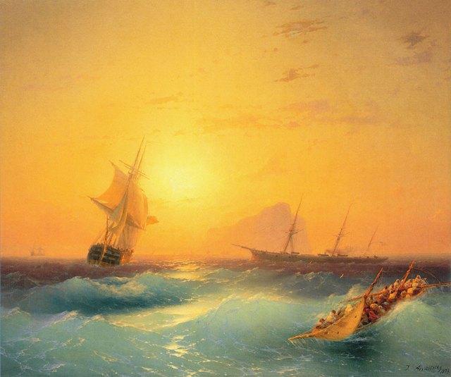 pintura-olas-mar-barcos-ivan-konstantinovich aivazovsky (9)