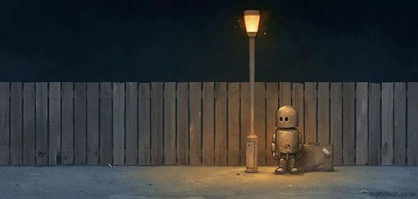 Pinturas-de-robots-solitarios-contemplando-el-mundo (6)