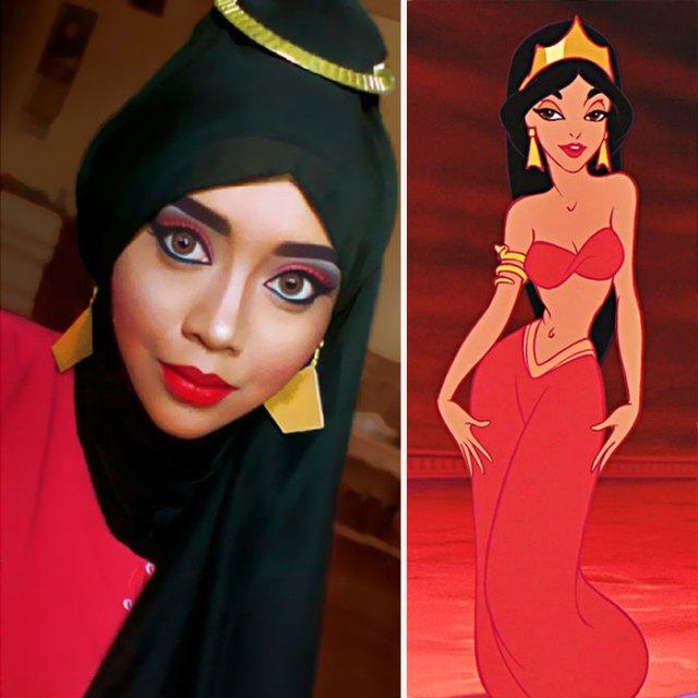 princesas-disney-maquillaje-hijab-saraswati (2)