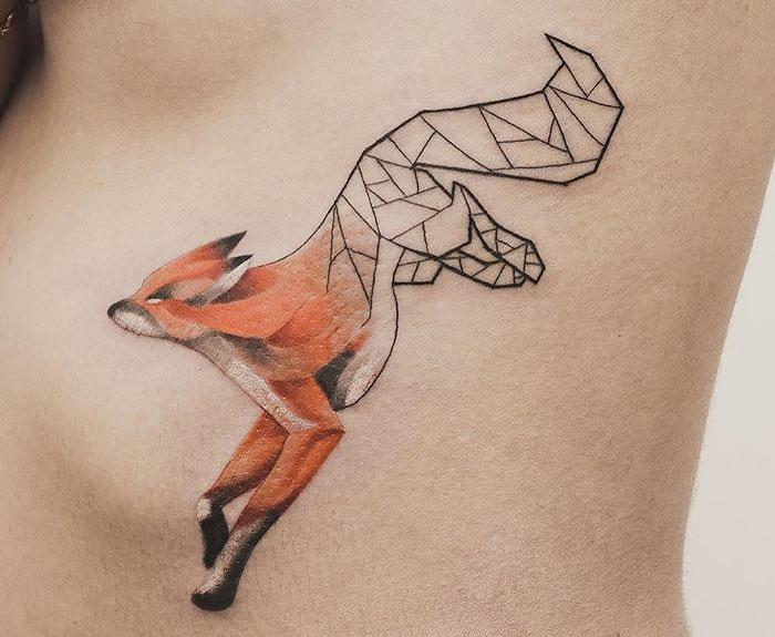 Tatuajes Geométricos De Jasper Andres Fusionan Preciosamente La