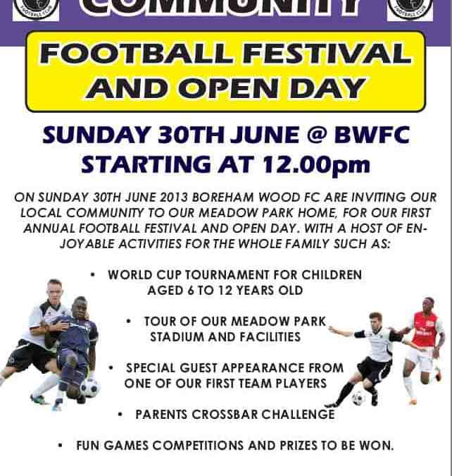 COME TO OUR COMMUNITY OPEN DAY