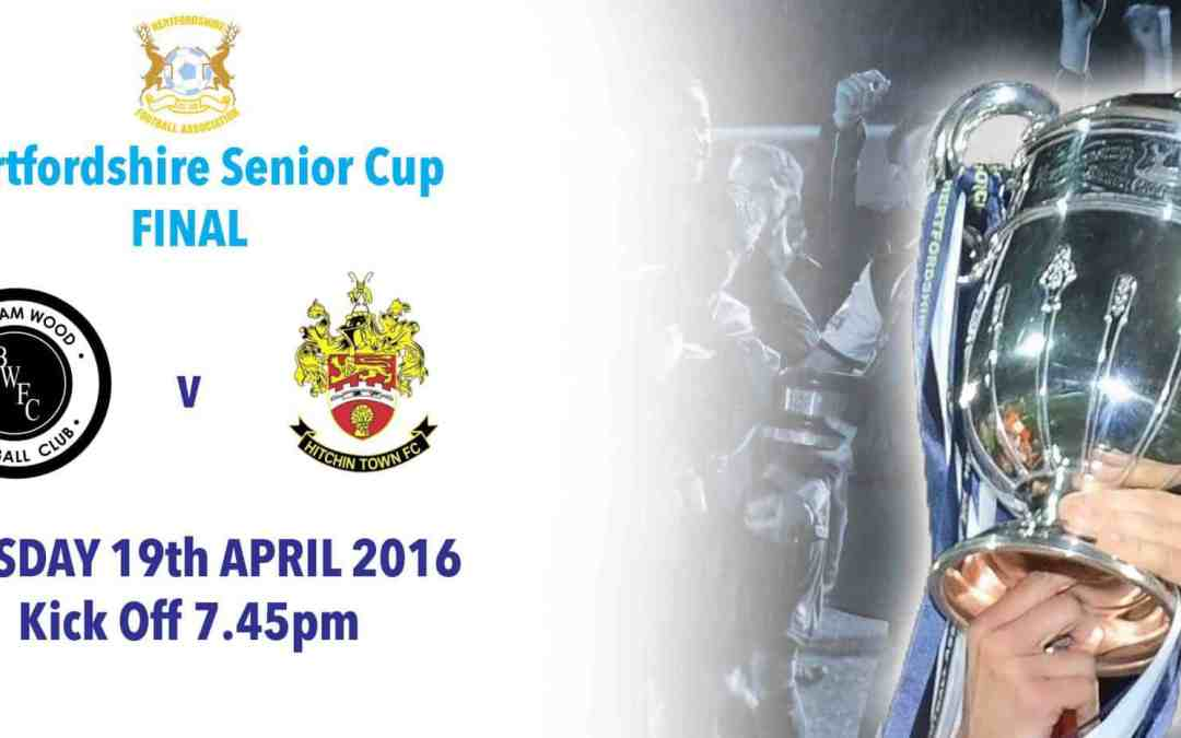 DATE AGREED FOR HERTS SENIOR CUP FINAL