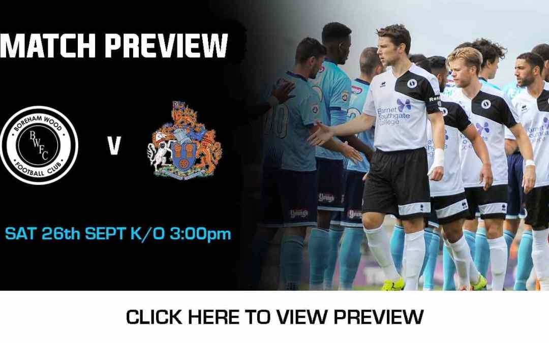 MATCH PREVIEW: BOREHAM WOOD VS ALTRINCHAM