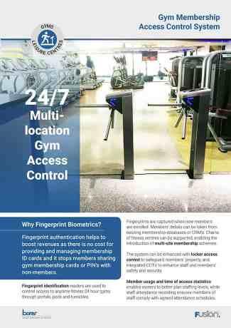 Gym Membership Access Control System Borer