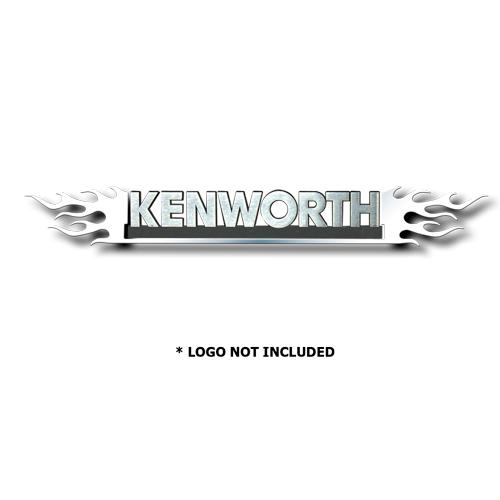 Kenworth Double Flame Stainless Steel Emblem Trim (#LTK