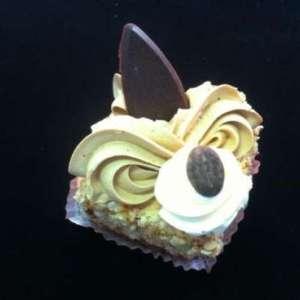 vierkant mokka gebakje