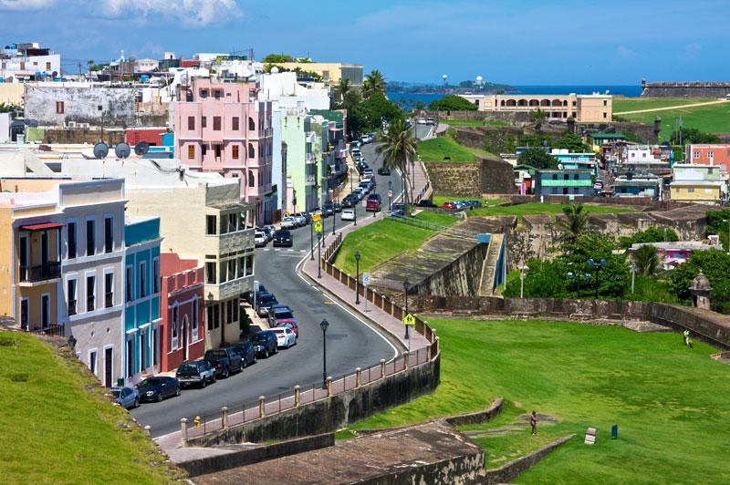 Vista de la Calle Norzagaray del Viejo San Juan  Boriken 365