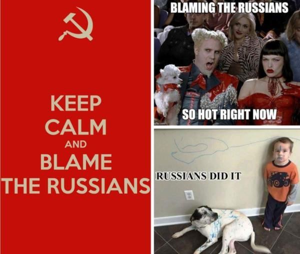 blame russians meme