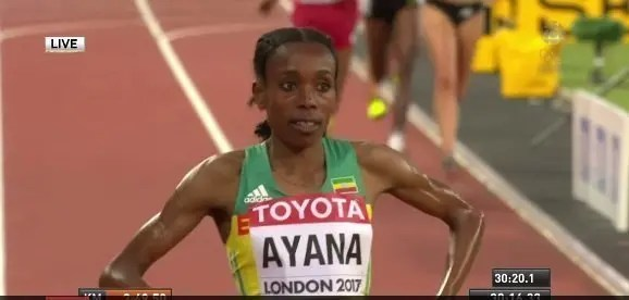 Almaz Ayana - World Championship - London