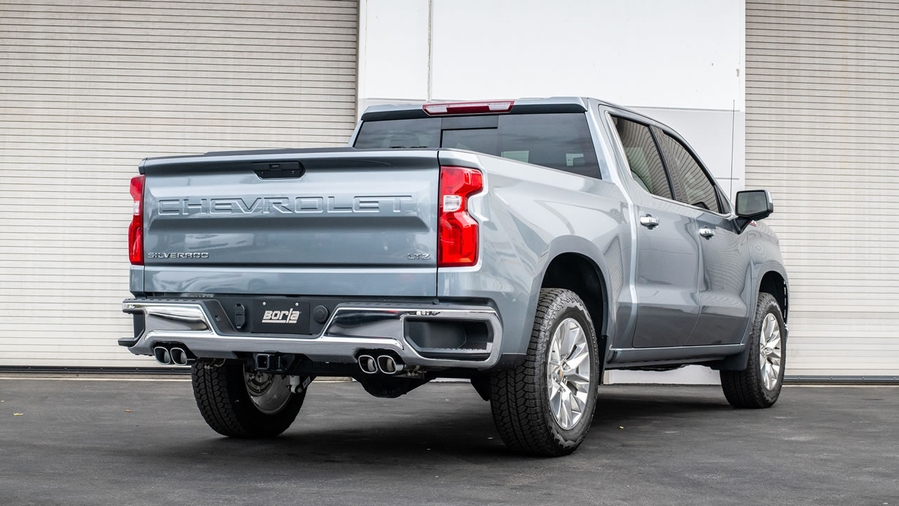 2019 2021 chevrolet silverado 1500 cat back exhaust system touring part 140780
