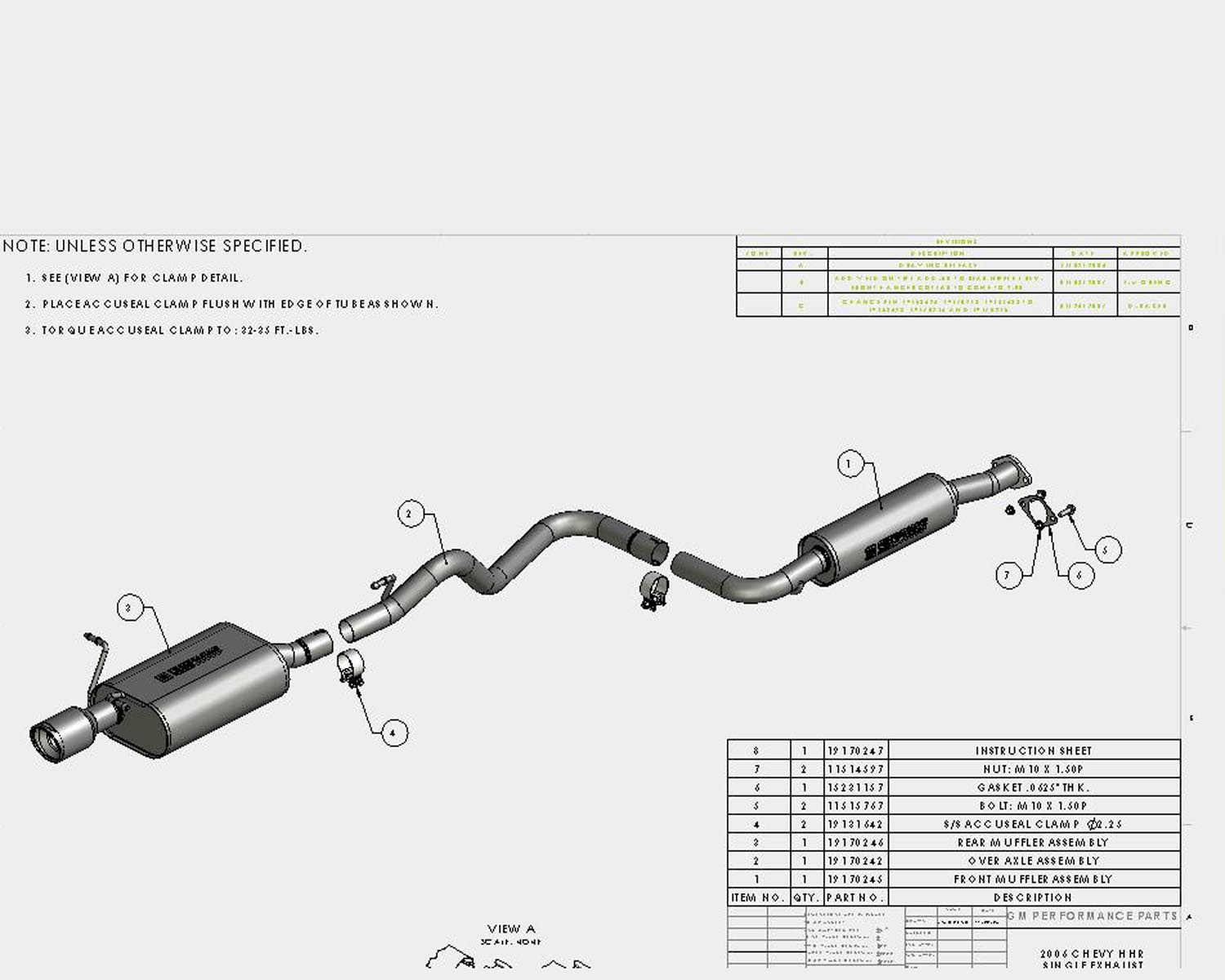 hight resolution of hhr 06 11 2 2 2 4l 4 cyl at part 19158628 chevy hhr ss exhaust system chevy hhr exhaust diagram