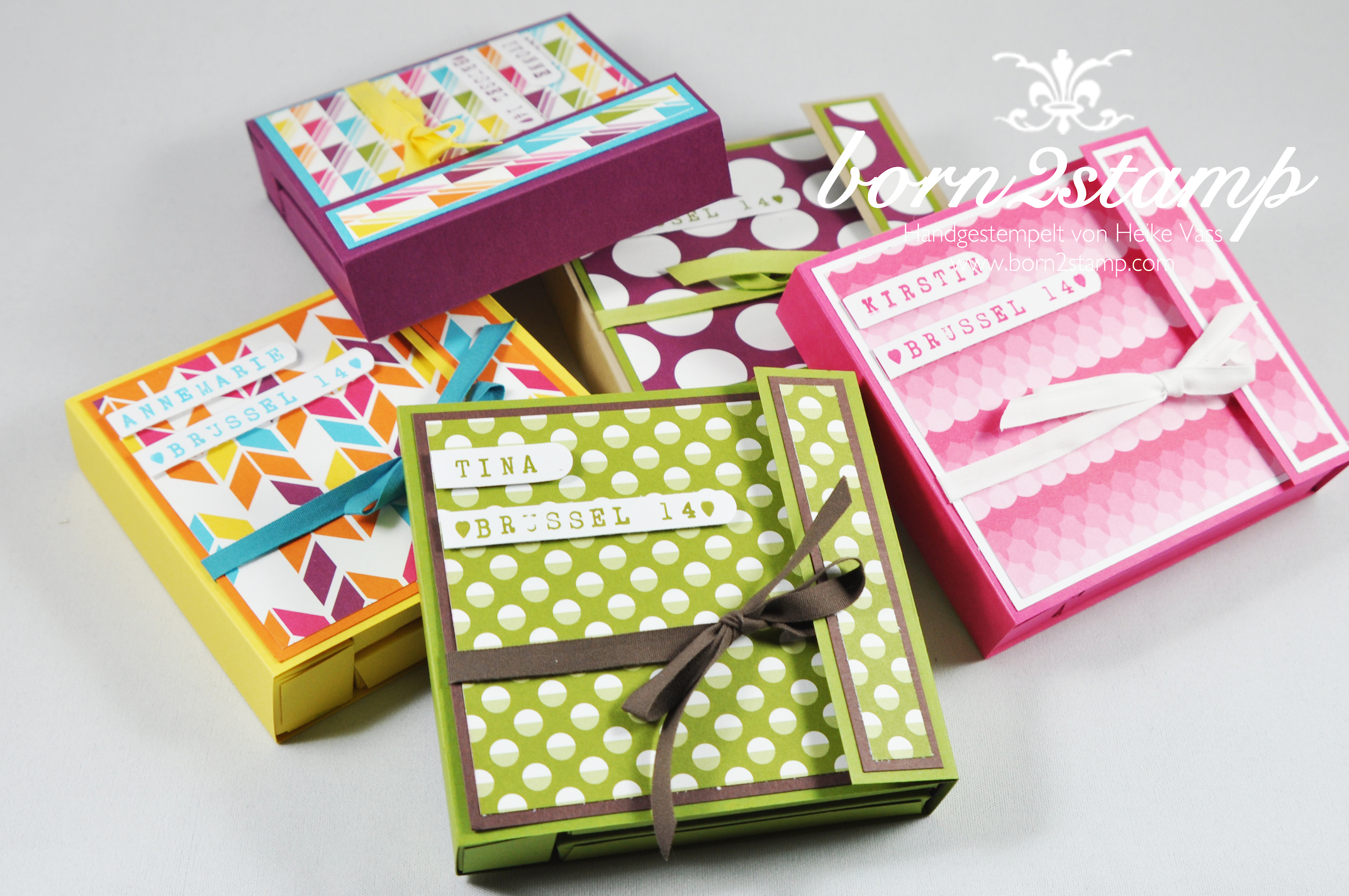 How to STAMPIN UP Kartenmae  born2stamp  Heike Vass