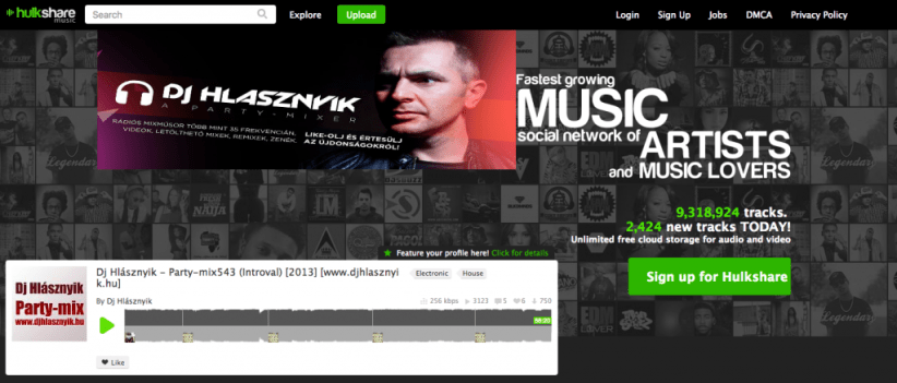 hulkshare unblocked music sites