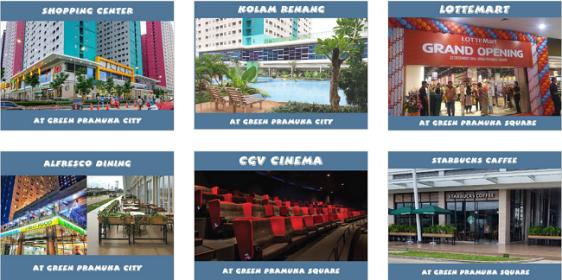 fasilitas di Apartemen Green Pramuka City