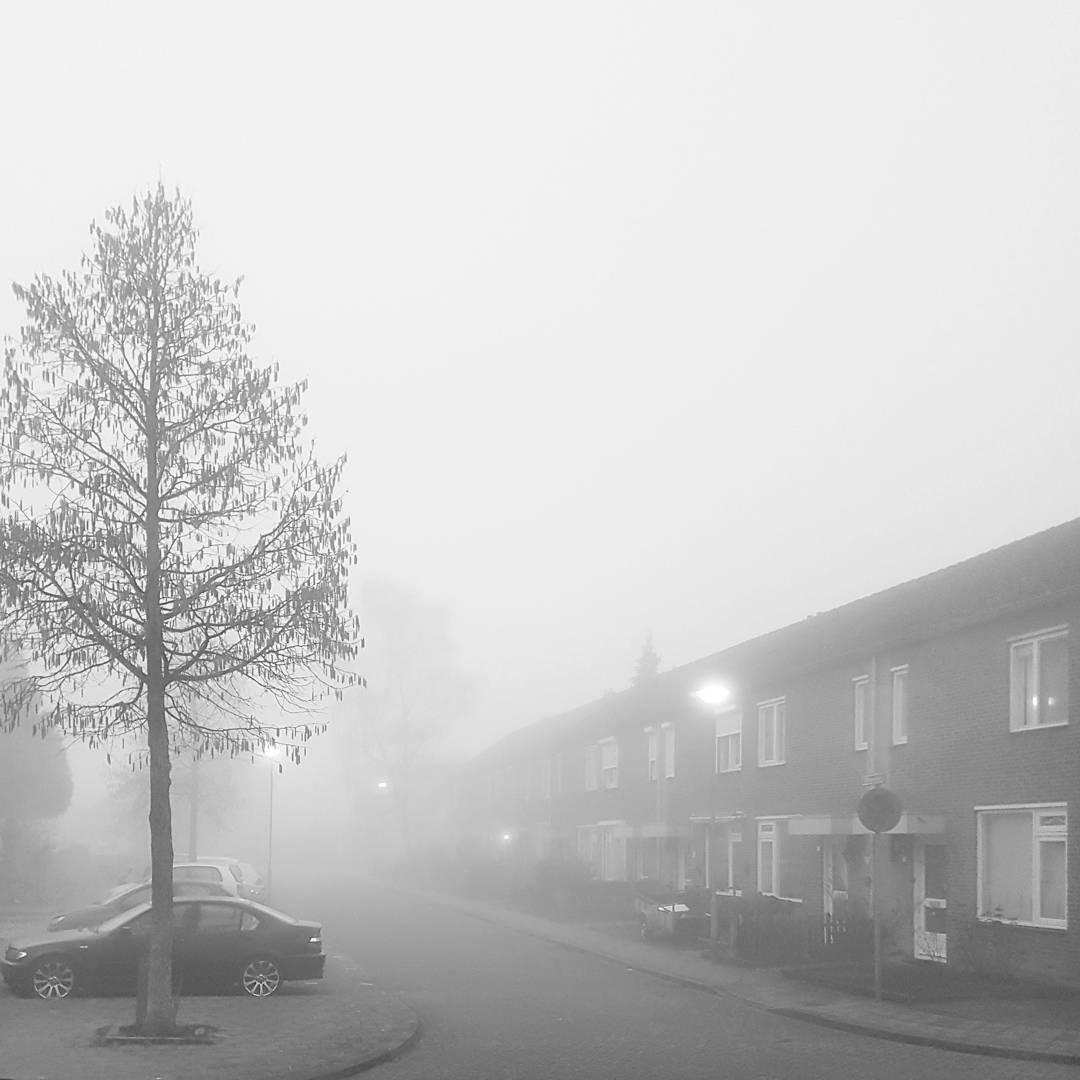 Een mistige morgen in Born #born #borninbeeld #limburg #liefdevoorlimburg #zwartwit #blackandwhitephoto #iglimburg