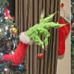 Grinch Arm Sticking Out Of Christmas Tree Ornament Holder Borninspace