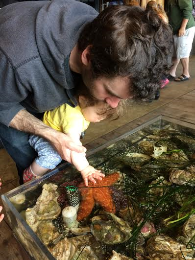 Our youngest loved being able to touch the sea creatures!
