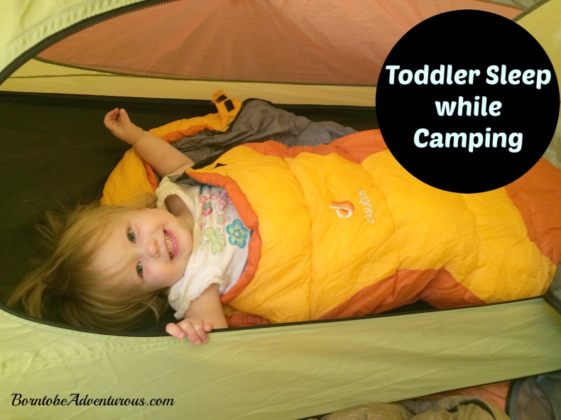 toddler sleep while campin