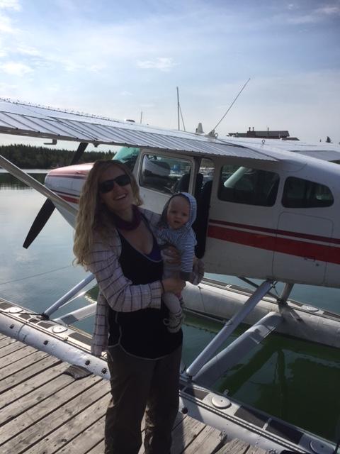 floatplane and baby
