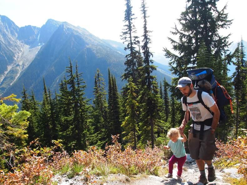 Hermit Meadows Toddler hiking