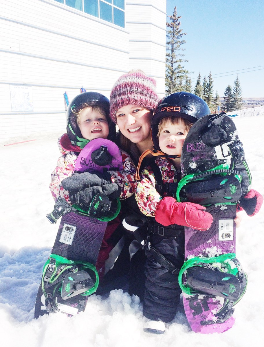 Two Littles, One Mama and an All Girls Snowboarding Adventure