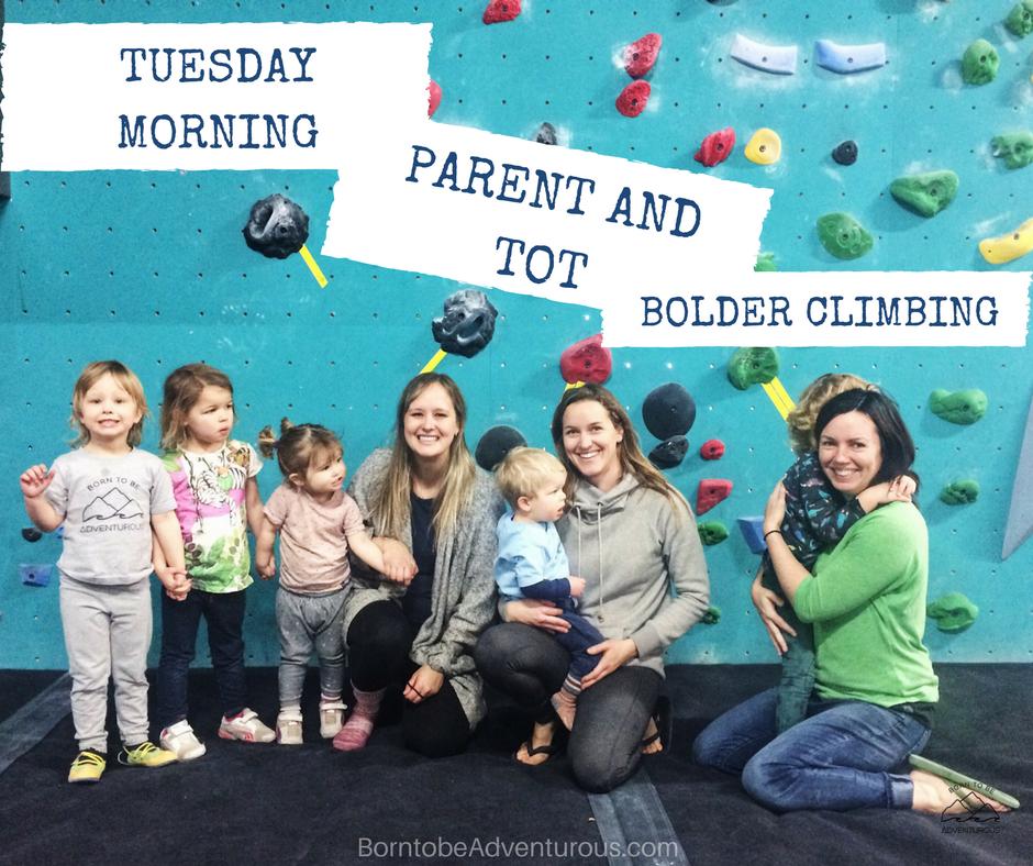 Tuesday Morning Parent and Tot Program at Bolder Climbing
