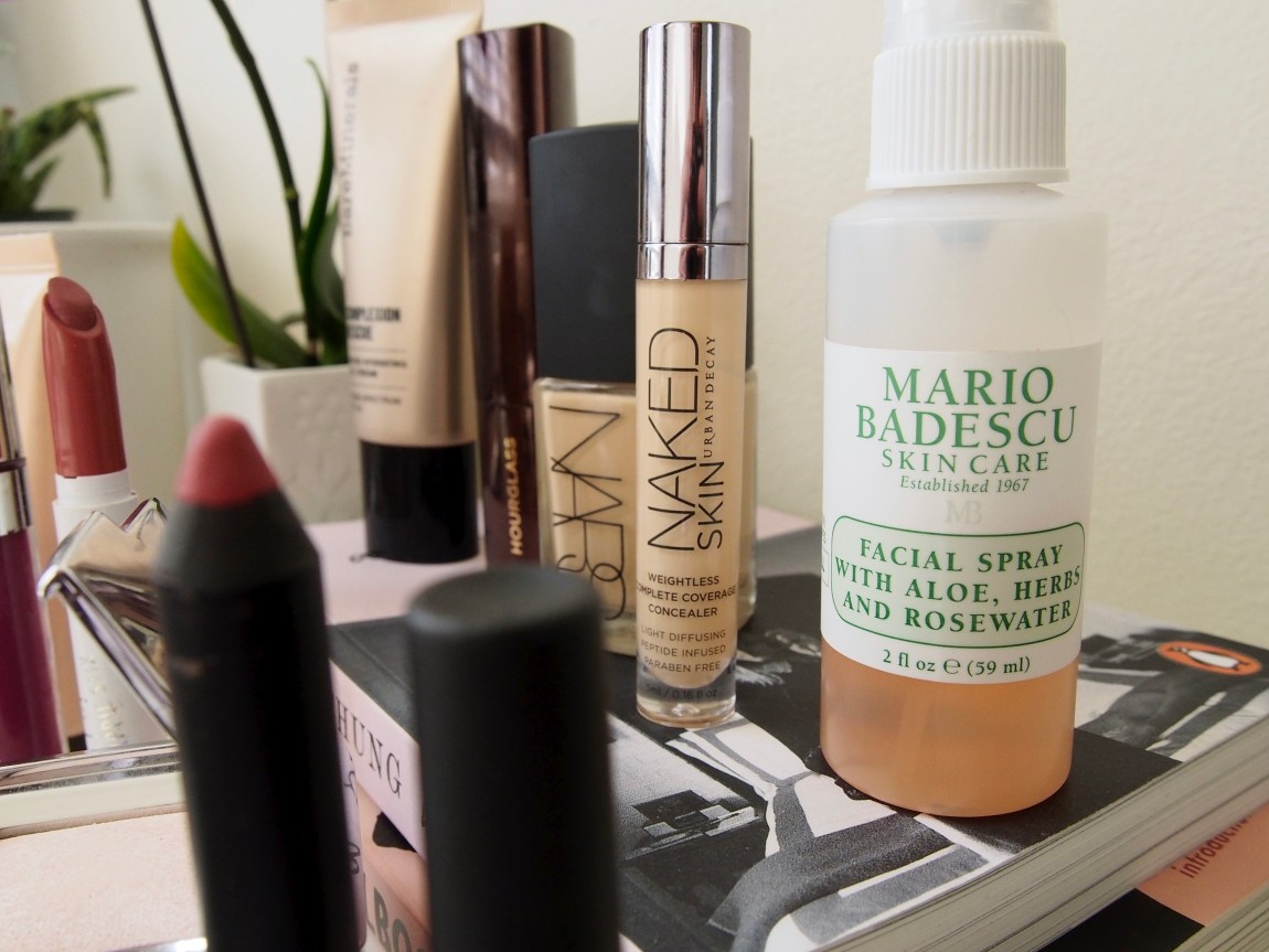 Cruelty Free Favorites - Mario Badescu Rosewater and Urban Decay Naked Skin Concealer