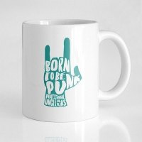 Taza born to be punk