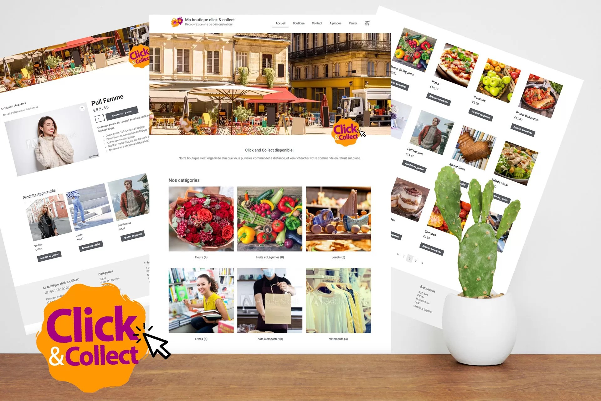 BoutiquClick and collect site e-boutique vente à emporter