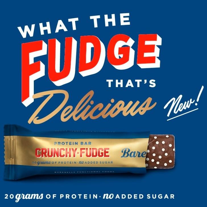 Barebell crunchy fudge