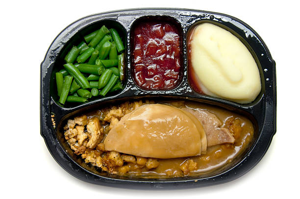 microwave-turkey-tv-dinner-with-three-sides-picture-id118265933