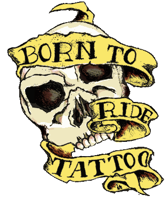 Custom Personalized Tattoo Neon Signs Born To Ride's Tattoo Club Home