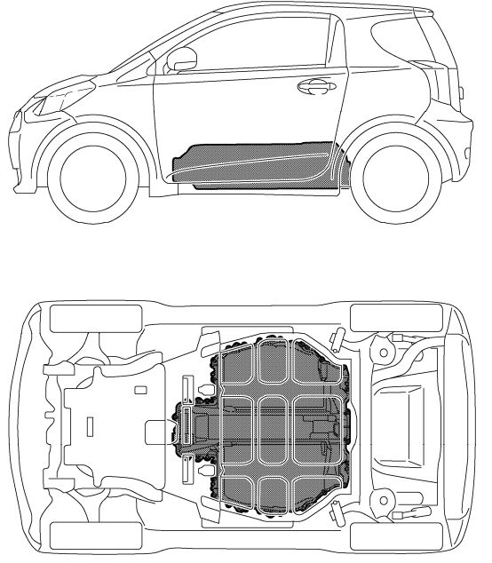 2013 Scion iQ EV Body Structure and Airbags
