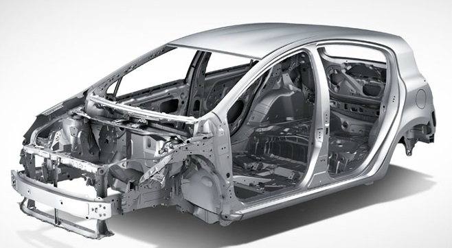 2013 Toyota Yaris Body Structure Boron Extrication