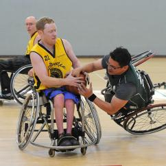 Wheelchair Fight Swivel Chair Gold Base Youth Basketball Bay Area Outreach And