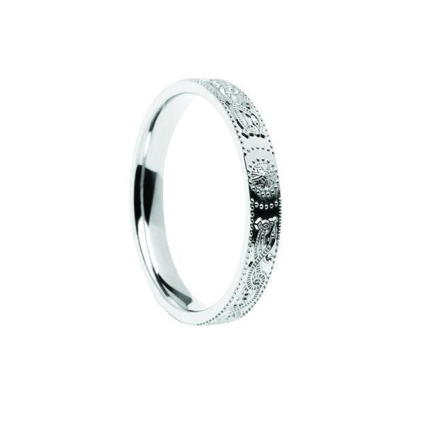 Celtic Warrior Shield Wedding Ring - Narrow