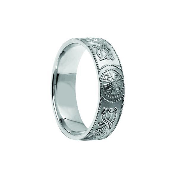 Celtic Warrior Shield Wedding Ring - Medium