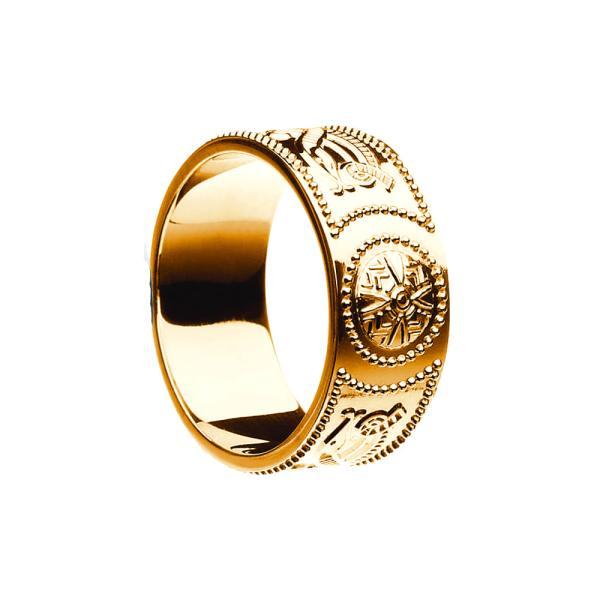 Celtic Warrior Shield Wedding Ring - Extra Wide