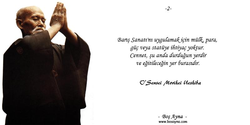 BS02 Barış Sanatı O'Sensei Morihei Ueshiba Aikido Budo Boş Ayna